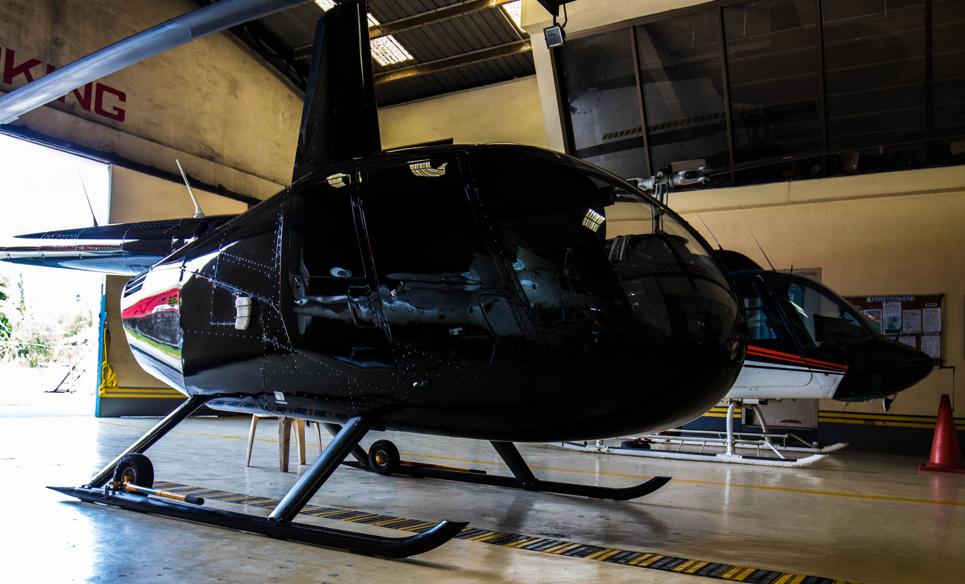 This is our R44 for rent in Manila, Philippines by AAOP Helicopter Charter.